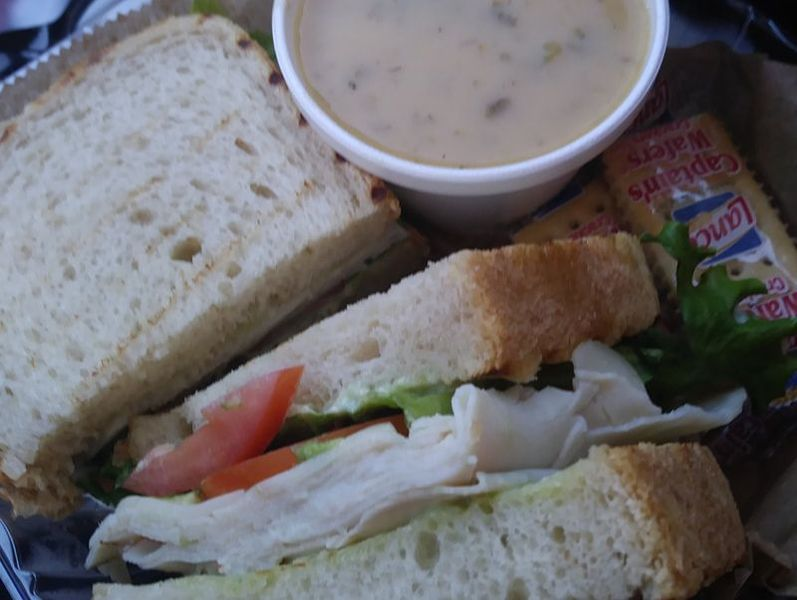 Soup and Sandwich from Massimos