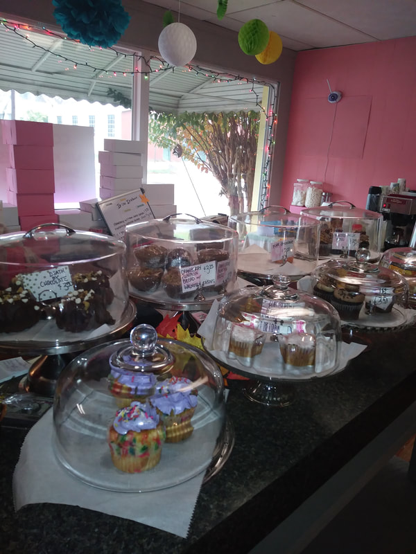 Cake selection at The Sugar Fairy Sweet Shoppe in Spencer NC