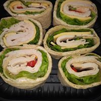 Sandwich tray that Rollin Delivery and Errands delivered for catering