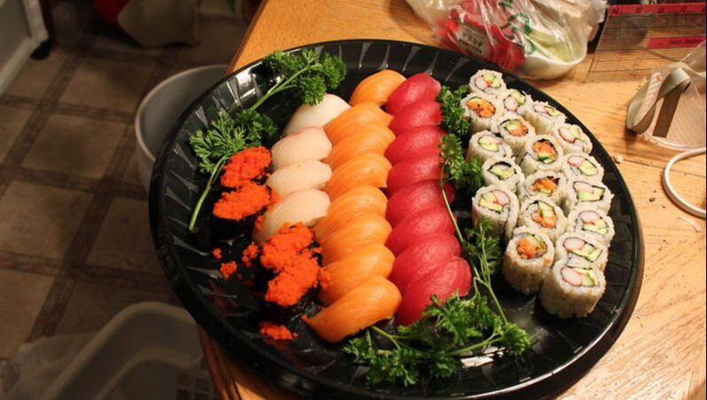 Sushi feast delivered for catering by Rollin Delivery and Errands LLC